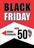 Desconocido Cartel para el Black Friday de Papel póster impresión, para escaparates de Tiendas