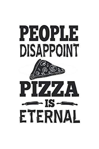 Cuaderno: La Pizza Eterno Odio A La Gente Sarcasmo Regalo 120 Páginas, 6X9 (Aprox. A5), Blanco / Ee Dibujo