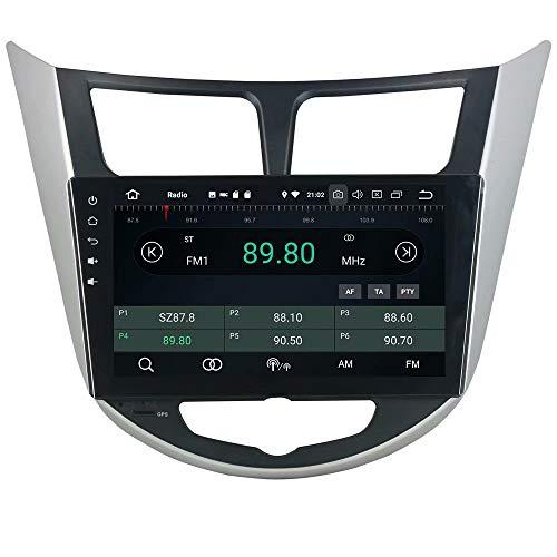 ROADYAKO Android 8.0 Navigation GPS Automatique pour Hyundai Verna/Accent / Solaris 2011 2012 Lien WiFi Miroir RDS FM AM Bluetooth AUX Multimédia Audio Vidéo