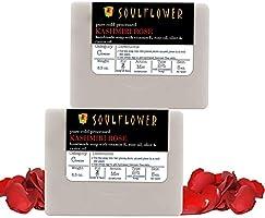 Soulflower Rose Handmade Soap, Pure, Natural, Organic, Vegan & Cold processed, Indian Formulation SLS Free, Moisturize...