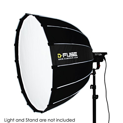 D-Fuse 59 Inch / 150cm para Softbox - 16 Rod Studio Diffusion Parabolic Umbrella Softbox with Bowens Mount, Inner & Outer Diffusion Panel, Carrying Bag (PARA150)