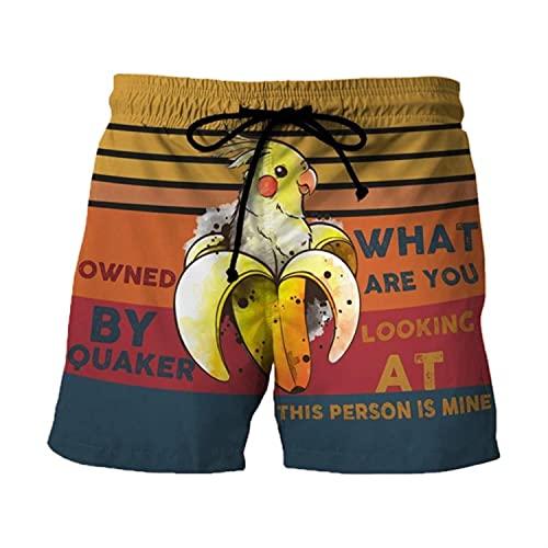 Mily Pantalones cortos de los hombres con cordón estampado casual de trabajo de playa pantalones cortos pantalones cortos pantalones de la mujer #Y5