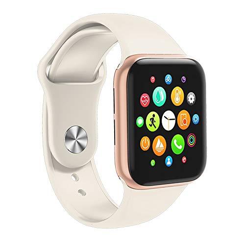 Bluetooth Noemen Smartwatch Sports Slimme Armband, Met Hart Bloeddruk Rate Slaap Bewaken Van 1,54 Inch Kleuren Touchscreen, Multi-Sport Mode Volgen,Gold