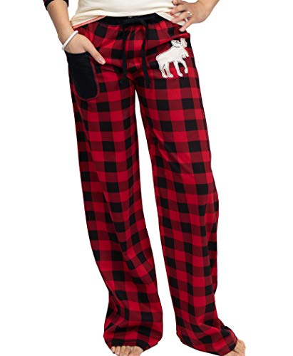 Lazy One Matching Family Pajama Sets for Adults, Teens, and Kids (Moose Plaid, X-Small)