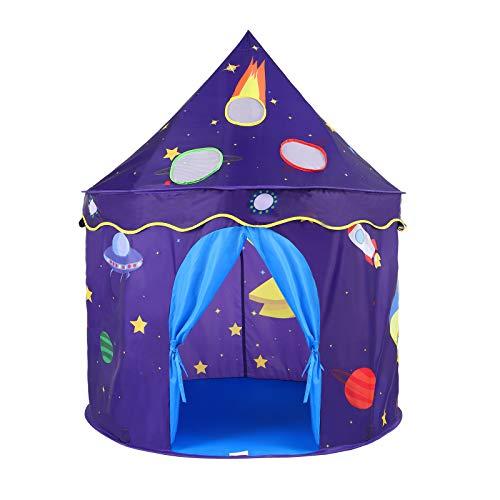 OUTAD Spielzelt für Kinder,Prinzenschloss Kinderzelt für Jungs, Spielhaus für innen und außen, tragbares Pop-Up faltbares Zelt kinderzimmer