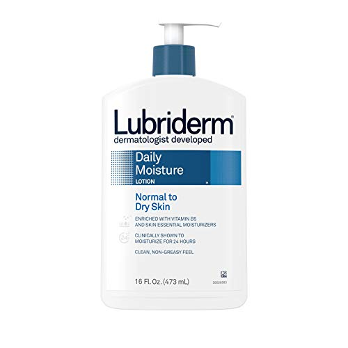 Lubriderm Daily Moisture Hydrating Body and Hand Lotion with Vitamin B5, Non-Greasy, 16 fl. oz