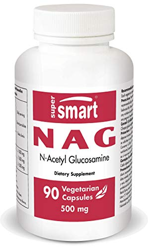 Supersmart MrSmart - Articulación - NAG 500 mg (N-acetil glucosamina)- La mejor forma de glucosamina, para tomar con la condroitina. 90 cápsulas.