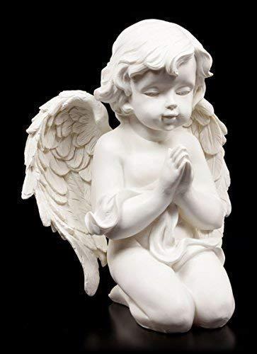 Engel Figur - Betend auf den Knien - Putte Cherub Engelchen