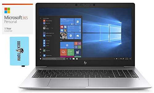 HP EliteBook 850 G6 Home and Business Laptop (Intel i7-8565U 4-Core, 16GB RAM, 2TB PCIe SSD, Intel UHD 620, 15.6' Full HD (1920x1080), Fingerprint, WiFi, Win 10 Pro) with Hub, Microsoft 365
