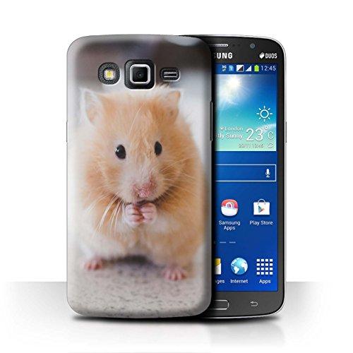 eSwish Carcasa/Funda Dura para el Samsung Galaxy Grand 2/G7102 / Serie: Lindos Animales de Compañía - Hámster Dorado