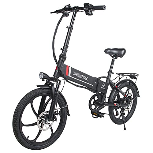 D30 Plegable Mini Bicicleta Electrica por Adultos 350W 48V10Ah montaña Bicicleta eléctrica Equipo 20 pulgadas 7 Velocidad Engranajes Eléctrico Bicicleta por Adultos Hombres mujeres ( Color : Negro )