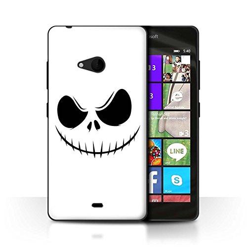 eSwish hard case voor Microsoft Lumia 540 (zwart/wit) / serie: Horror Film Art - Jack Skellington Inspired Art