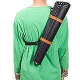 矢筒 アーチェリーバックアロー レザー 矢ホルダー 矢入れ 弓道具 調節可能 耐摩耗性 狩猟 中世期