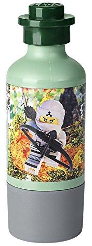 LEGO NINJAGO Movie Trinkflasche mit Becher, Trinkflasche, 350 ml, Sand Grün