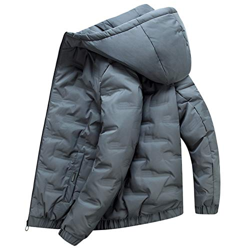 Men Lightweight Puffer Coat , Quilted Ultra Light Coat for Camping Skating Skiing Snowboarding