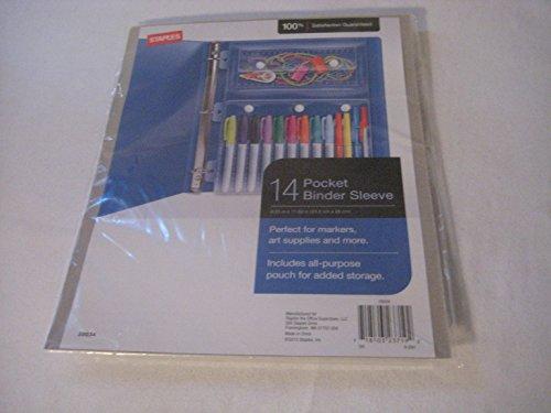 Staples 14 Pocket Binders Sleeve