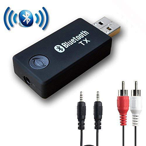 Bluetooth Transmitter for TV, YETOR 3.5mm Portable Stereo Audio Wireless Bluetooth Audio Transmitter for TV, PC, MP3/MP4.USB Power Supply(TX9)