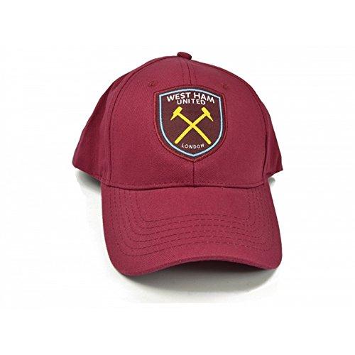 West Ham FC Official - Cappellino con visiera (Taglia unica) (Bordeaux)