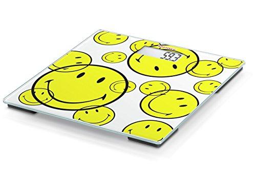 Soehnle 63777 Smiley Be Happy Electronic Bathroom Scale - White with Smiley Decor …