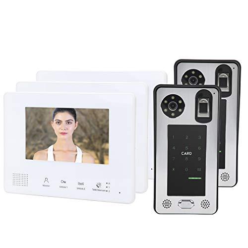 Timbre de videoportero de 2 cables, timbre de pared con cámara HD...