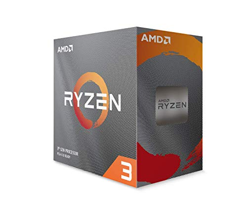 AMD Ryzen 3 3100 - Procesador (4C/8T, 18MB Cache, 3.9 GHz MAX Boost)