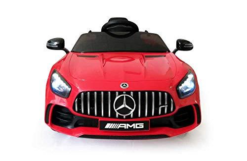 Babycar Mercedes GT-R AMG ( Rossa ) Nuova Versione Macchina Elettrica per Bambini 12 Volt Batteria con Telecomando 2.4 GHz Porte Apribili con MP3