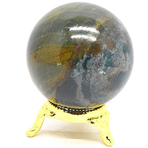 Iolite Reiki Healing Sphere Ball With Stand meditation reiki aura Size40-50 mm