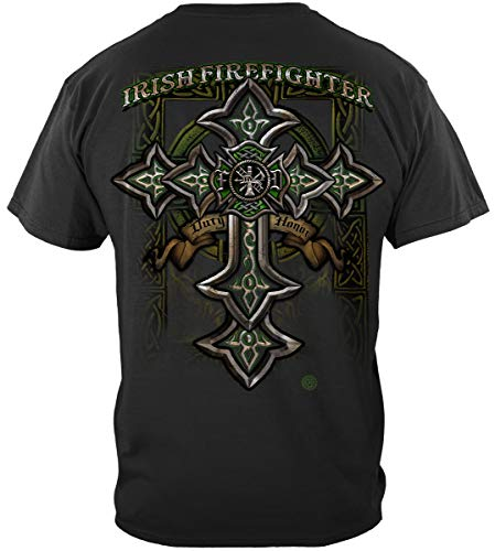 Firefighter Gear Bag Turnout | Firefighter Irish Celtic Cross Green Shirt ADD156-FF2218XXL
