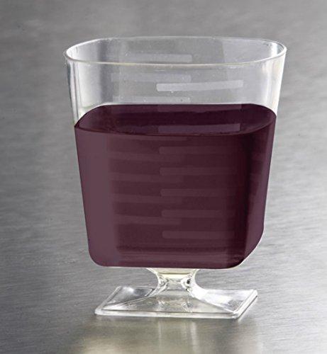 EMI Yoshi Koyal Squares Pedestal Wine Glasses, 8-Ounce, Clear, Set of 180