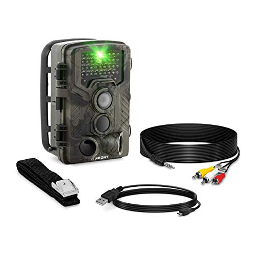 Stamony ST-HC-8000B Wildkamera Wildtierkamera Fotofalle Wild Überwachungskamera Jagdkamera 8 MP Full HD 42 IR-LEDs 20 m 0,3 s LCD-Anzeige 20 m Reichweite
