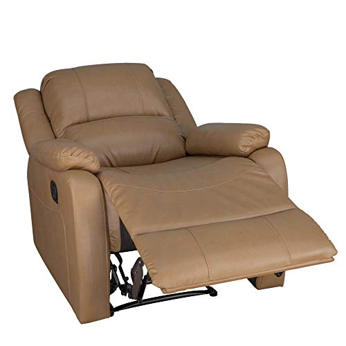 RecPro Charles Collection | 30' Zero Wall RV Recliner | Wall Hugger Recliner | RV Living Room (Slideout) Chair | RV Furniture | RV Chair | Toffee