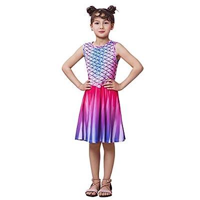 Amazon - Save 80%: Funnycokid Girls Sleeveless Dress Kids Printed Casual Summer Sundress 4-13 Y…