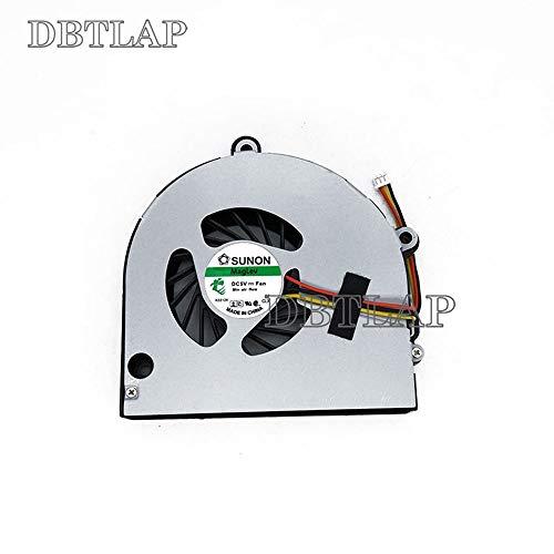 DBTLAP Laptop CPU Lüfter für Toshiba Satellite P750 P750D P755 P755D C660 C665 L670 L675 L675D A660 A665 A665D A660D C660-212 P755-S5120 KSB06105HA KSB06105HA-9K1N ksb06105ha AB7905MX-EB3 5V 0.40A