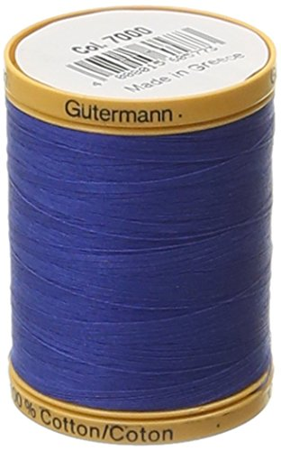 Gutermann Natural Cotton Thread Solids 876 Yards-Royal Blue