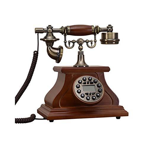 SMSOM Teléfono Antiguo, Cable Fijo con Cable Teléfono Vintage Digital clásico Teléfono Fijo Retro Europeo con Cable con Auriculares Colgantes para el hogar Decoración de la Oficina