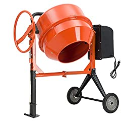 small Electric mixer for concrete SUNCOO 4/5HP 5 cu. Mortar for mixing the plaster of Fort Paris. Portable cart …