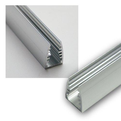 1m LED Alu-Glaskanten-Profil eloxiert, 12,5x18mm