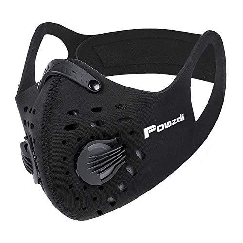Powzdi Sport Maske Widerstand Atematmung Sauerstoff Sport Maske mit Ventil fürs Training trainingsmaske für Ventil Motorrad Radsport Outdoor aktivitäten