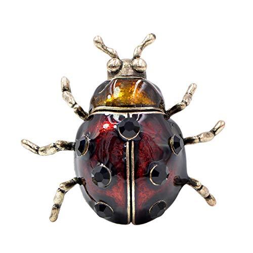 ZHENZHIA Broches Grote Leuke Wijn Rode Kleur Kever Voor Vrouwen Vintage Bugs Pin Mode Pak Accessoires Gift