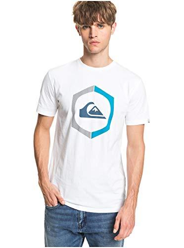 Quiksilver Sure Thing - T-Shirt - T-Shirt - Männer - M - Weiss