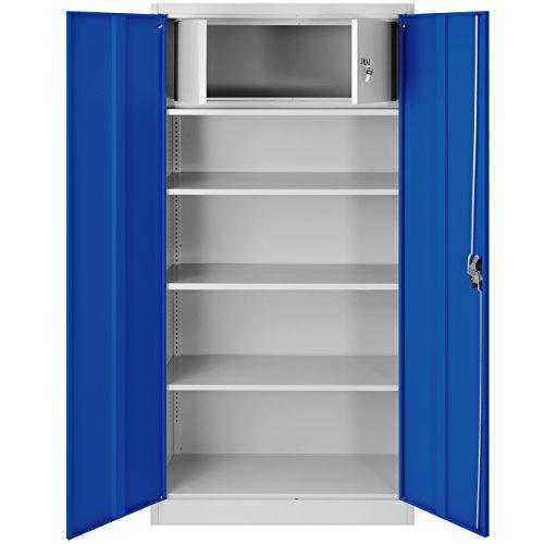 Aktenschrank mit Geheimfach C001D Metallschrank Stahlschrank Stahlblech Werkzeugschrank Büroschrank...