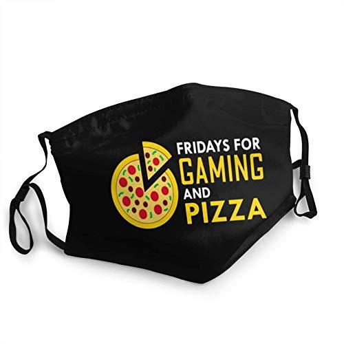 123456789 Adult Kids Cloth Gaming Pizza Geschenk für Gamer Videospielliebhaber Baumwolle Anti-Staub Windproof e für Outdoor Atmungsaktive Komfortable Mundmuffel
