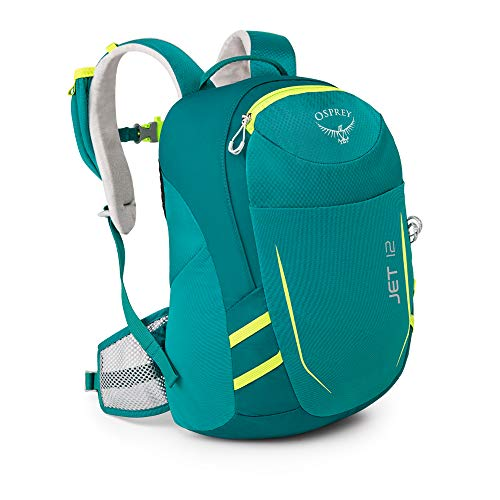 Osprey Jet 12 Unisex Youth Hiking Pack - Real Teal (O/S)
