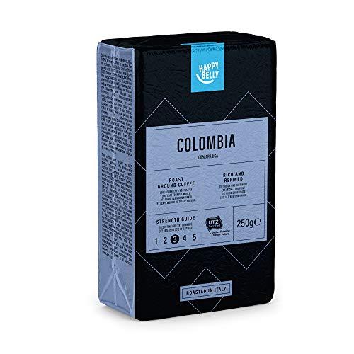 """Marque Amazon - Happy Belly Café torréfié moulu """"COLOMBIA"""" (4 x 250g)"""
