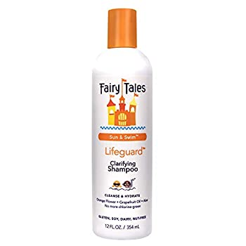 Fairy Tales Swim Shampoo for Kids - 12 oz   Made with Natural Ingredients in the USA   Chlorine Removal Swimmer Shampoo for Kids   No Parabens Sulfates or Synthetic dyes
