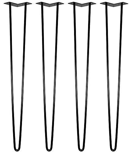 4 Gambe Acciaio Forcina Scrivania Tavolo da Colazione Gamba 2 Montanti 86 cm V2Aox