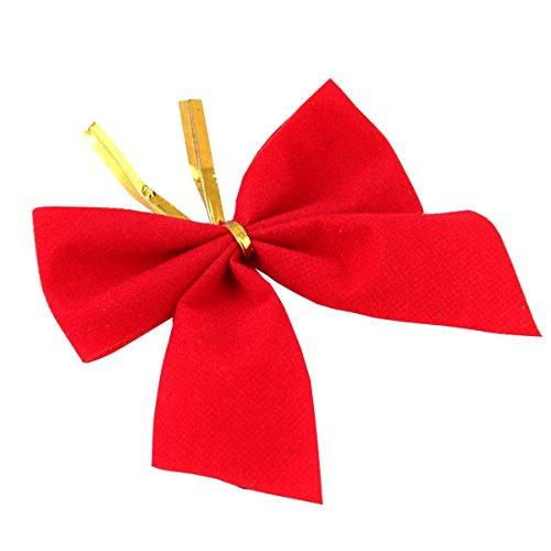 12 piezas lazo terciopelo arcos Arcos árbol navidad