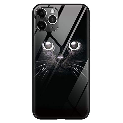 "ZhuoFan Funda para Xiaomi Redmi Note 10 Pro/Pro MAX 4G, Cárcasa Silicona 3D Cristal Templado con Dibujos diseño Antigolpes de Protector Case Cover Piel Fundas Movil para 6,67"", Gato"
