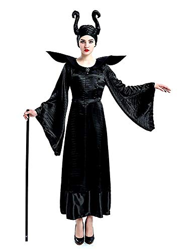 Lovelegis Disfraz de Bruja Malvada - maléfica - maléfica - Bella Durmiente - Mujer - niña - Disfraz - Carnaval - Halloween - Accesorios - Talla l - Idea de Regalo para Navidad y cumpleaños