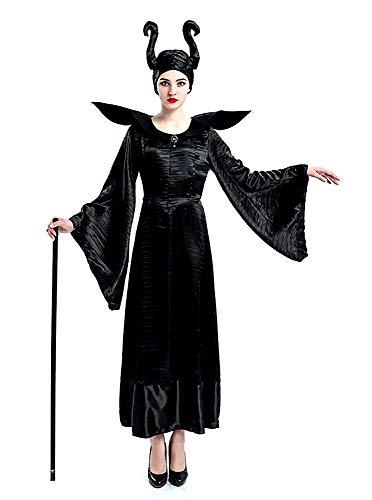 Boze heks kostuum - kwaadaardig - slapende schoonheid - vrouw - vermomming - carnaval - halloween - meisje - accessoires - maat m - origineel idee voor verjaardagscadeau verjaardag